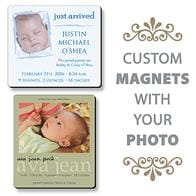 Baby Birth Announcement Magnet - 3.5x4 Round Corners - 25 mil.