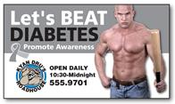 Awareness Business Card Magnet - 3.5x2 (Square Corners) - 25 mil.