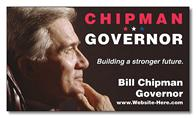 Political Business Card Magnet - 3.5x2 (Square Corners) - 25 mil.