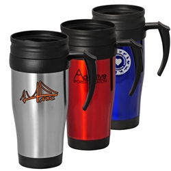 16 Oz Classic Stainless Steel Travel Mug