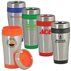 16 Oz Color-Trimmed Stainless Steel Tumbler