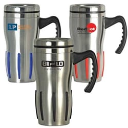 16 Oz Comfort Grip Stainless Steel Double-Wall Mug