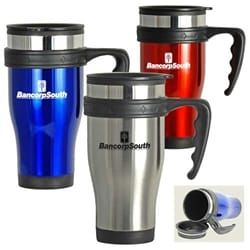 16 Oz Contour Stainless Steel Travel Mug