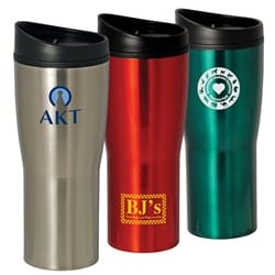 16 Oz Curved Stainless Steel Tumbler