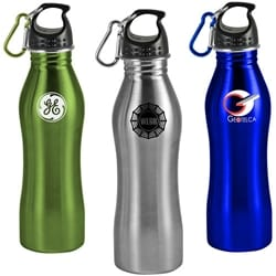 25 Oz Contour Stainless Steel Sports Bottle