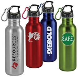 25 Oz Wide-Mouth Stainless Steel Sports Bottle