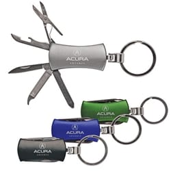 7 Function Pocket Knife with Key-Ring