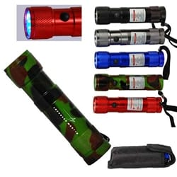 8-LED Flashlight with Laser Pointer
