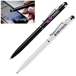 Aluminum Ballpoint Pen with Soft-touch Stylus Tip