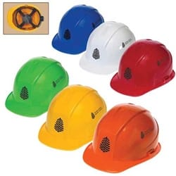 Cap Style Hard Hat with 4-Point Ratchet Suspension