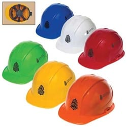 Cap Style Hard Hat with 6-Point Ratchet Suspension