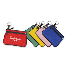 Double-Zipper Coin Purse with Key Ring