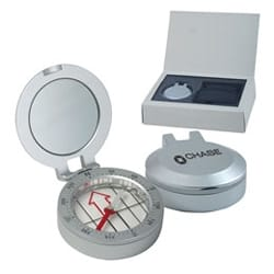 Metal Compass with Sighting Mirror