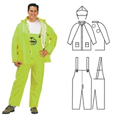 PVC/Polyester 3-Piece Lime Rainsuit