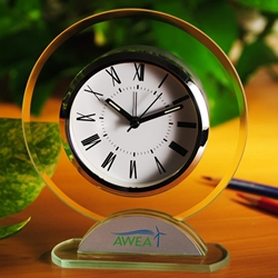 Round Shaped Glass Table Alarm Clock